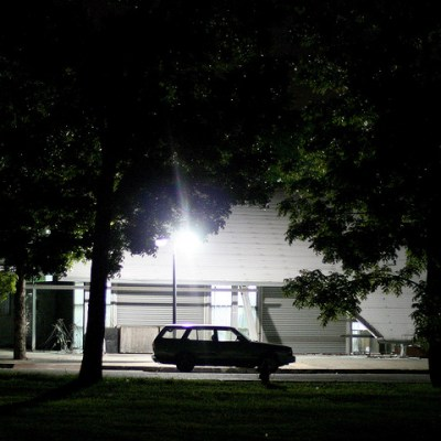 car at night