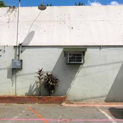 side of a warehouse