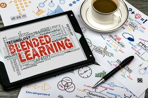 montage representing blended learning