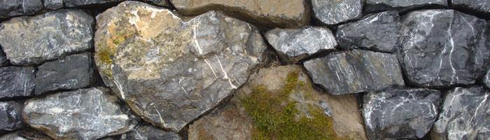 Seite-Trockenmauern