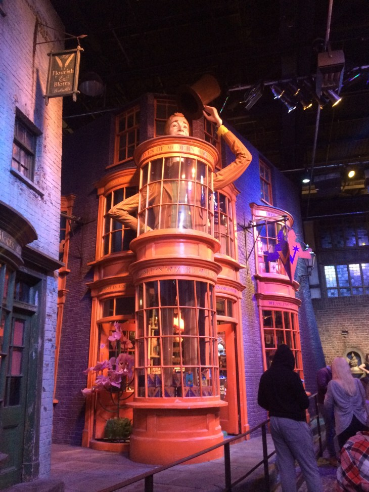 The Weasley twins shop in Diagon Alley, taken at the Studio Tour in London.