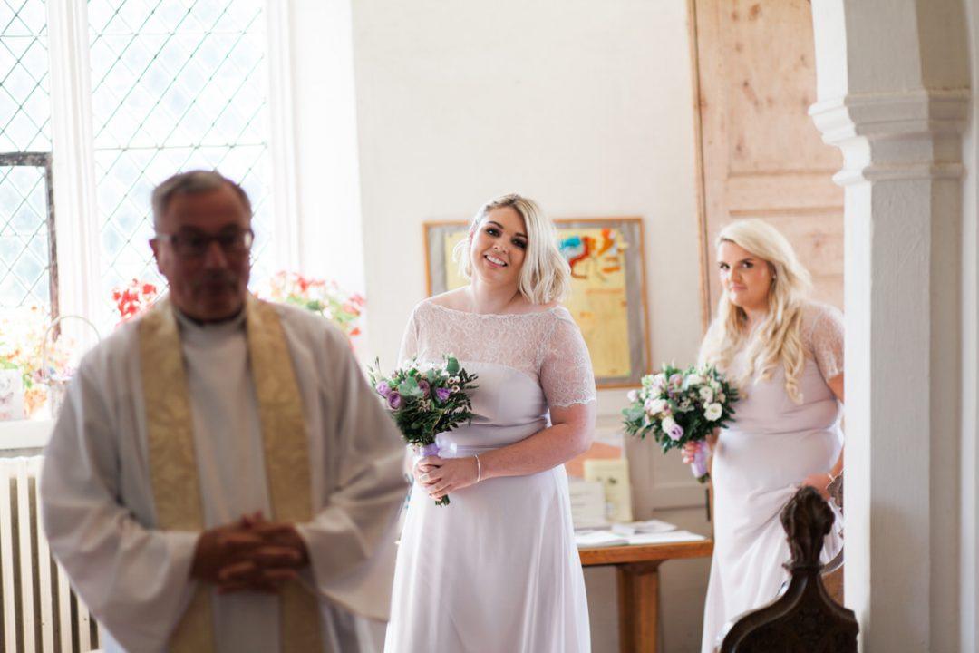 St Barnabas Church in Great Tey wedding