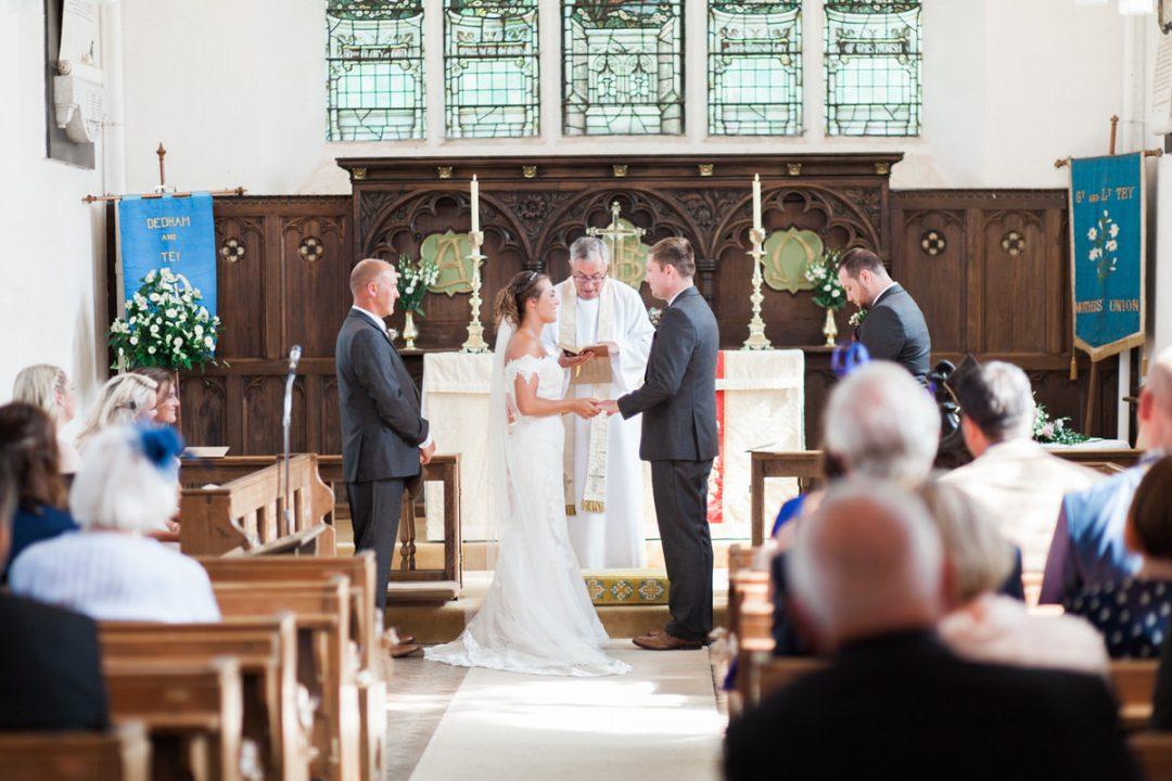 St Barnabas Church in Great Tey wedding photographer
