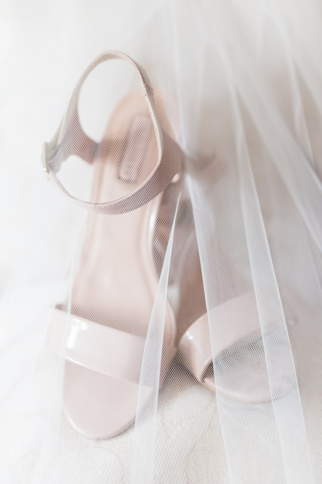 Bridal shoes and veil