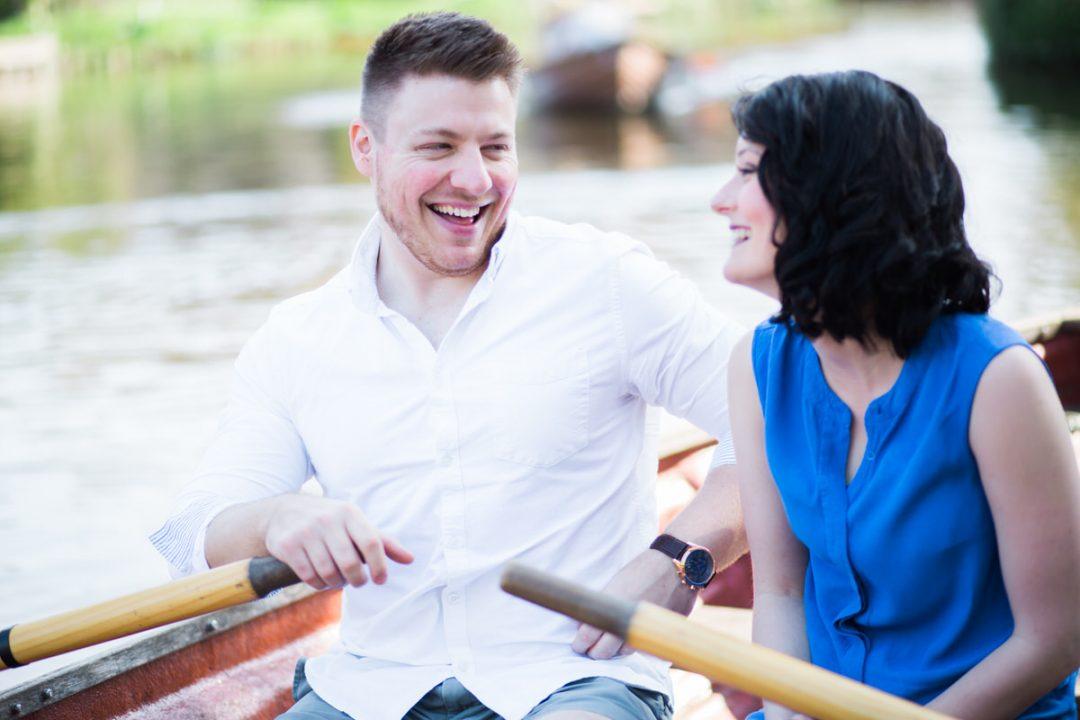 Flatford boats engagement shoot
