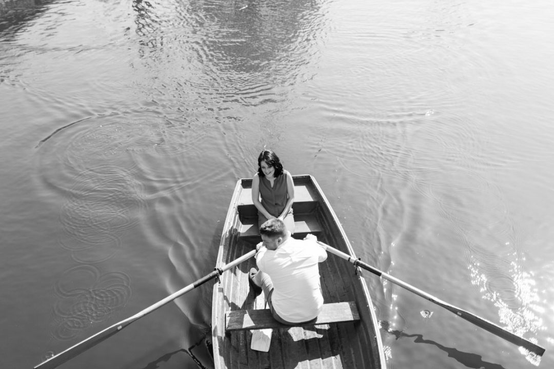 Flatford boats engagement shoot