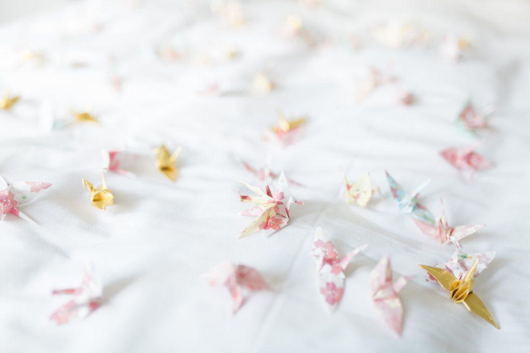 1001 origami cranes wedding