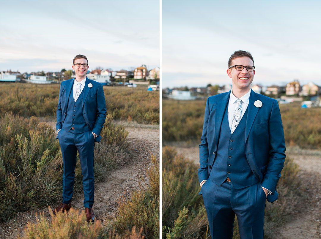Essex beach wedding