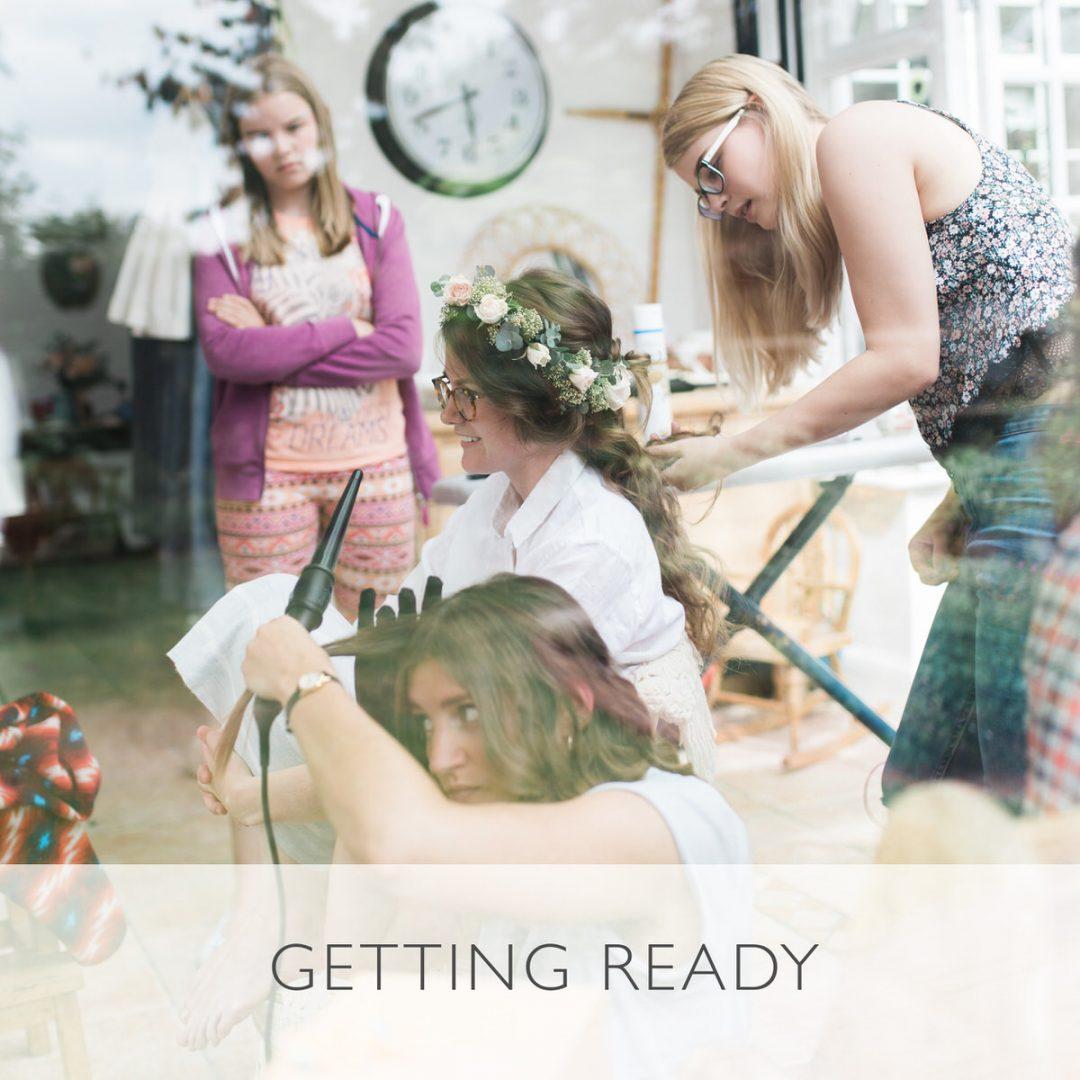 Sample wedding timeline, getting ready