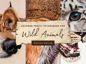 """""""Colored Pencil Techniques for Wild Animals"""" and online video course by Gemma Gylling"""