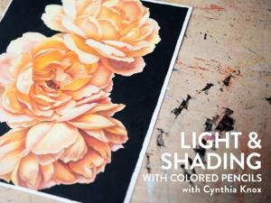 """""""Light and Shading With Colored Pencils"""" by Cynthia Knox"""