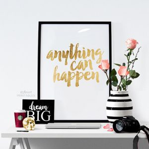 Anything Can Happen Art print by FleurtPrintables
