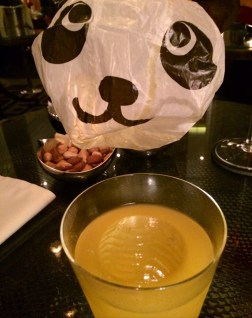 My 'Super Panda', which consisted of Botran rum, Kamm & sons, mango, citrus and almond.