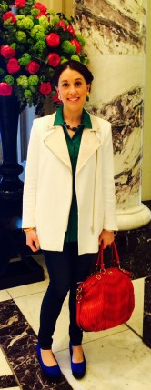 Today's look photographed in the lobby at 'The Langham'.