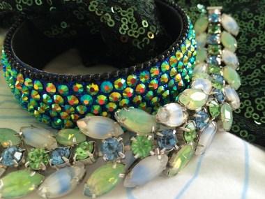 Kramer Parure (Earrings and bracelet), 1960s, Gemma Redmond Vintage & Rhinestone Bangle, The V&A Shop