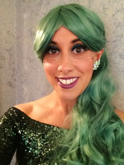 I chose a green wig for the ArtRave theme!