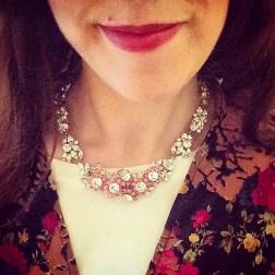 Necklace: 1950s, Gemma Redmond Vintage Kimono: Topshop T-shirt: Asos