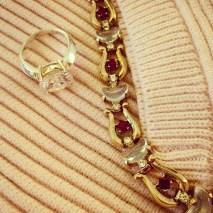 Ring: 1980s, Gemma Redmond Vintage Bracelet: Trifari, 1940s, Gemma Redmond Vintage