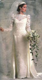 Image: Vogue Bridal Original Patterns 1987