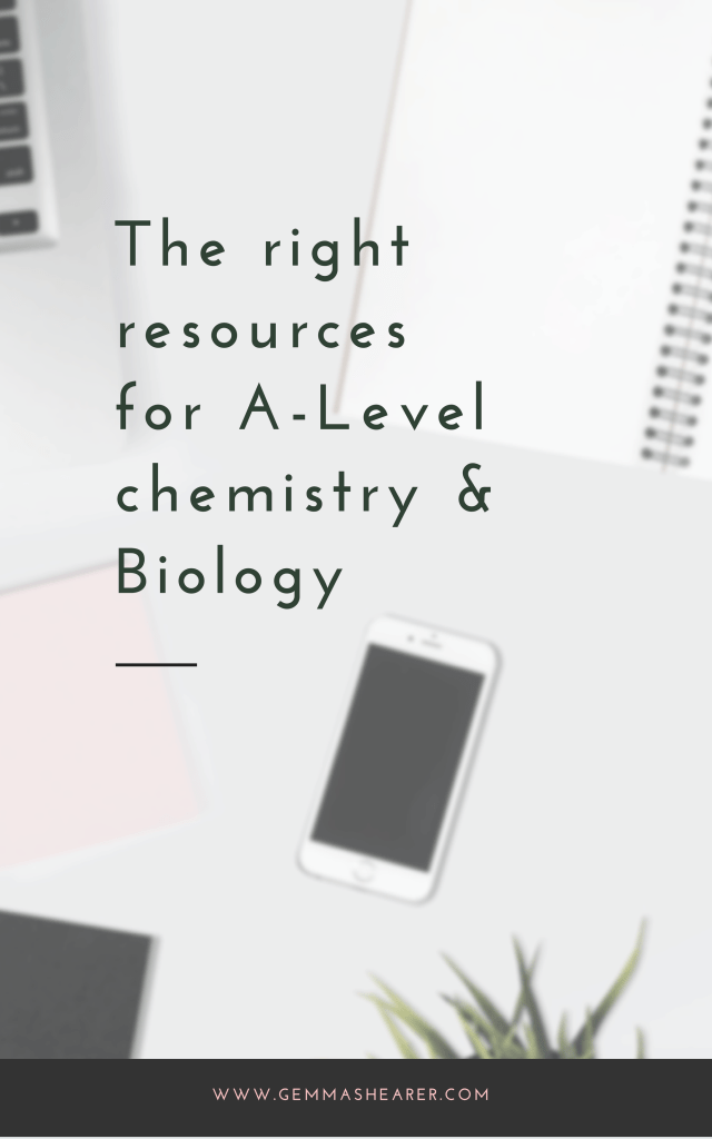 resources for A-level chemistry and biology