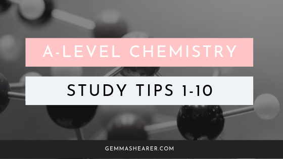 A level chemistry tips