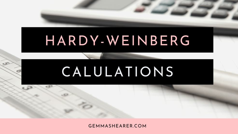 Hardy-weinberg calculations for A-level-biology