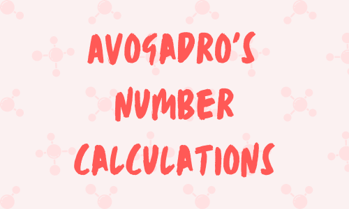 Avogadros number calculations