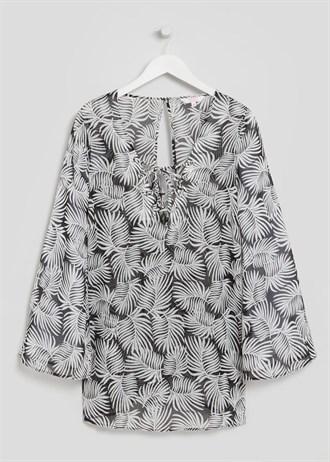 cross-front-leaf-print-tunic