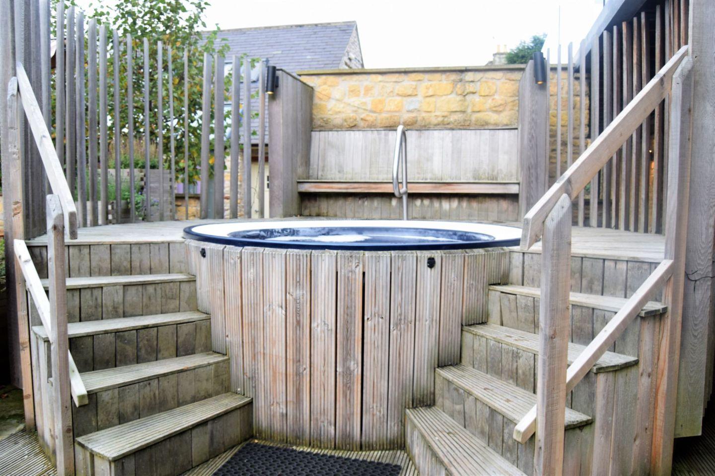Hot tub at the spa