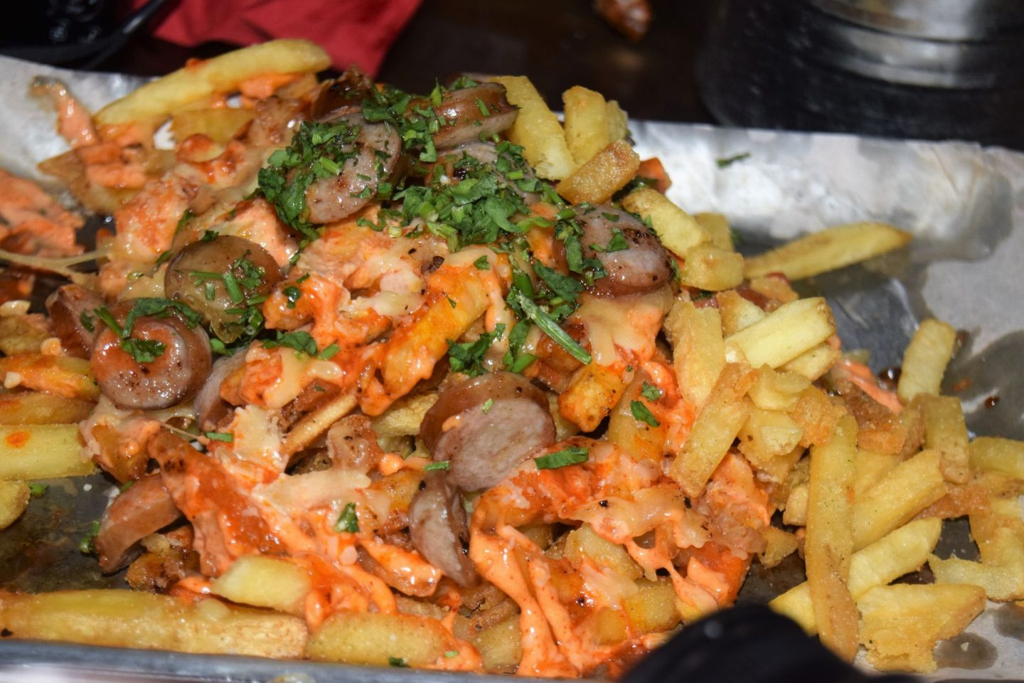 hot dog fries with the burgers at Meat Stack