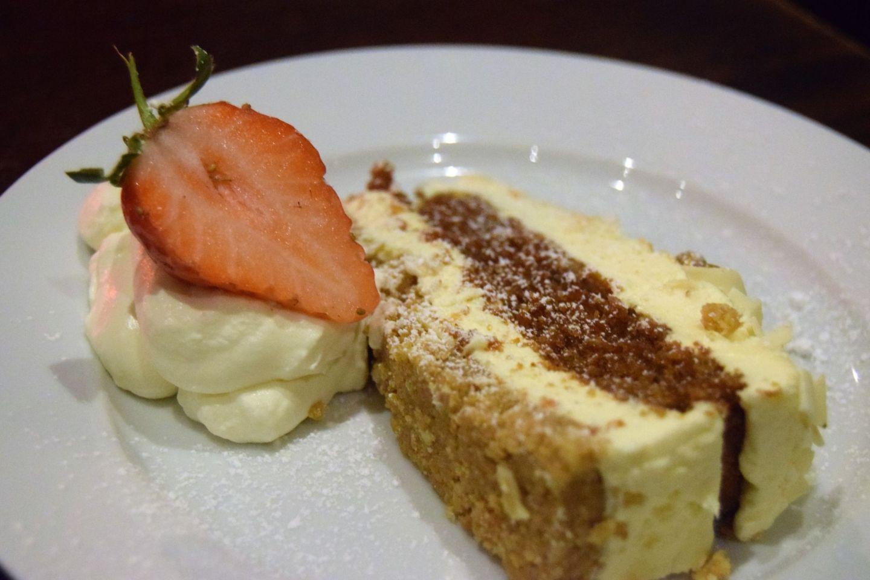 carrot cake cheesecake the peacock