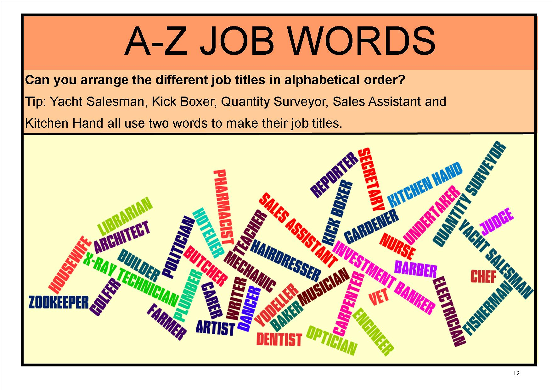 A Z Jobs Resources