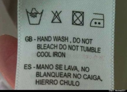 """El """"hierro chulo"""" como instrucción de lavado está entrando con fuerza en el mercado textil."""