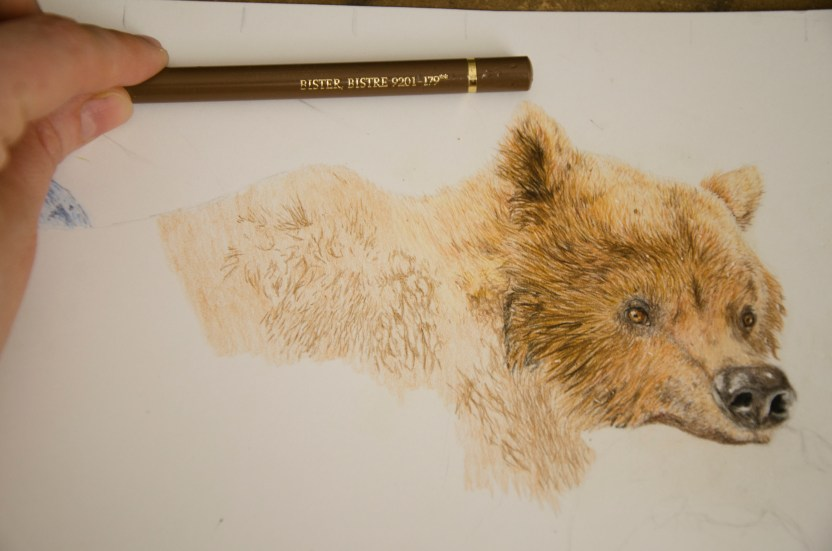 Second photo showing fur drawing example