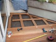 Balkon Verlegung Holzbelag