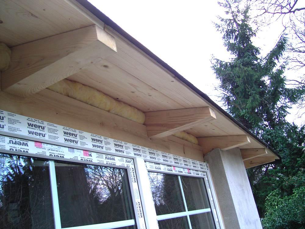 dachuberstand verkleiden dachverkleidung vorher 1 material
