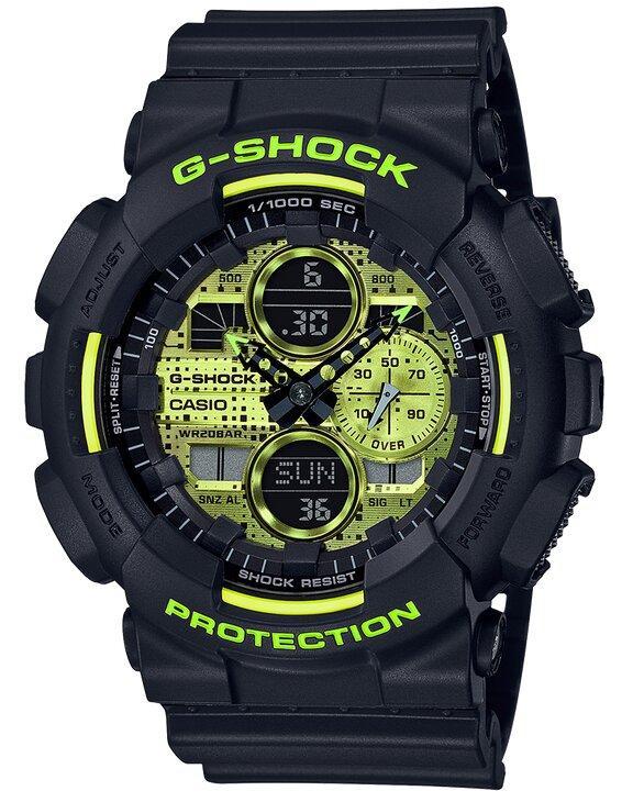 G-SHOCK 90's Inspired Resin Band Men's Watch - Black - Gemorie