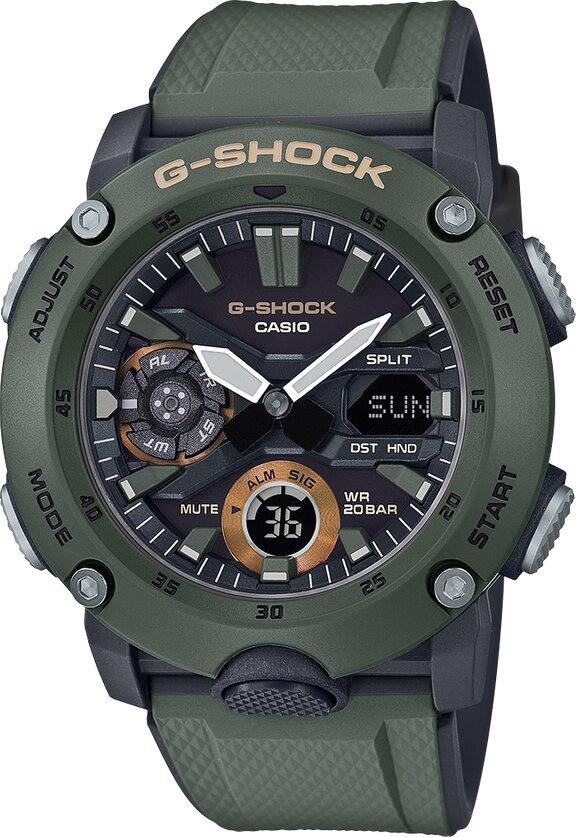 G-SHOCK G-SHOCK Double Illuminator Multidimensional Face Men's Watch - Green - Gemorie