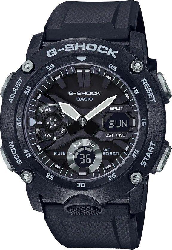 G-SHOCK G-SHOCK Double LED Light Men's Analog Digital Watch - Black - Gemorie