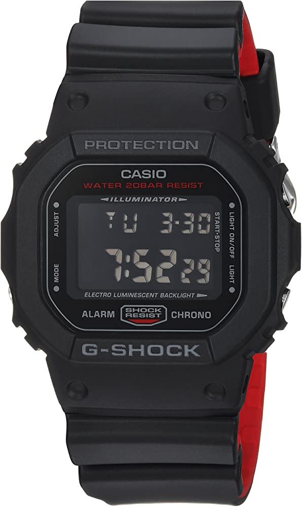 G-SHOCK G-SHOCK DW5600HR-1-BLACK AND RED - Gemorie