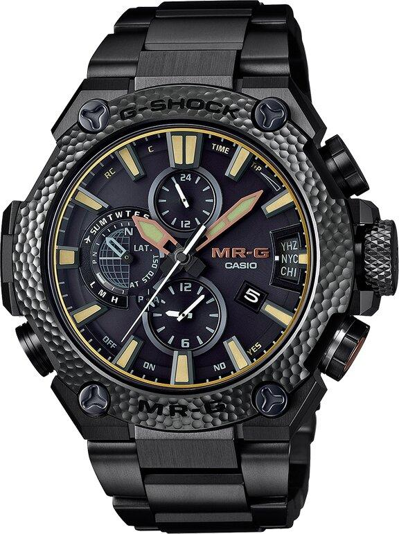 G-SHOCK G-SHOCK GPS Signal Reception Japanese Tsuiki Metal Hammering Detail Men's Watch - Black - Gemorie