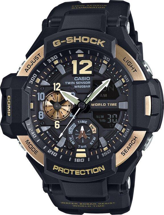 G-SHOCK G-SHOCK GravityMaster Temperature Sensor Men's Watch - Black - Gemorie