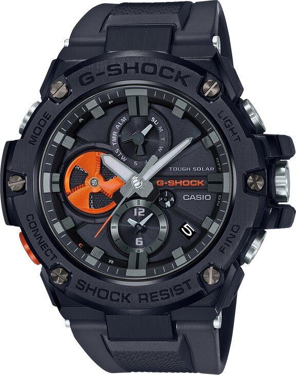 G-SHOCK G-SHOCK Ion Plated Bezel Wireless Bluetooth Solar Powered Men's Watch - Black - Gemorie