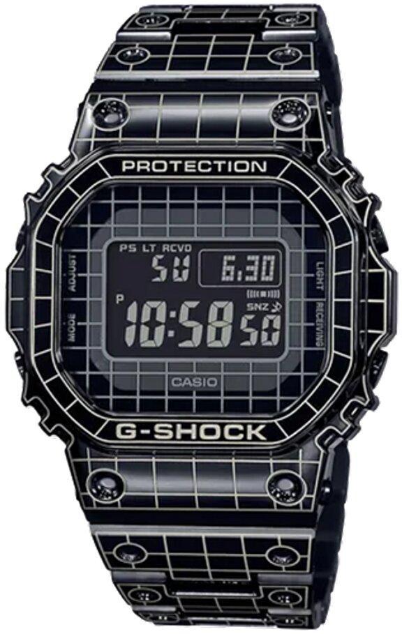 G-SHOCK G-SHOCK Limited Edition Laser-Engraved Grid Tunnel Men's Watch - Black - Gemorie