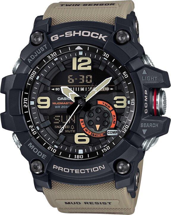 G-SHOCK G-SHOCK Master of G MudMaster Twin Sensor Men's Watch - Multicolor - Gemorie