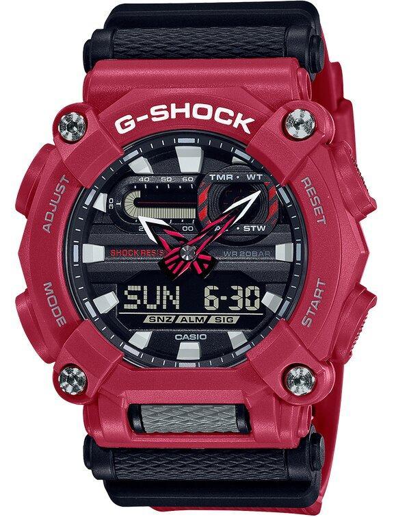G-SHOCK G-SHOCK Mineral Glass Men's Analog Digital Watch - Red and Black - Gemorie