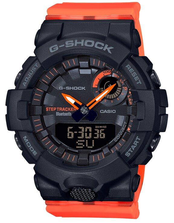 G-SHOCK G-SHOCK S Series Bluetooth Neobrite Mineral Glass Women's Watch - Orange and Black - Gemorie
