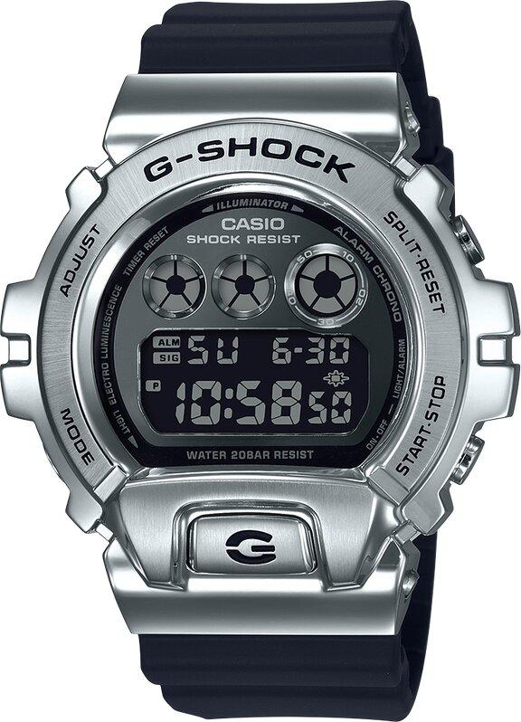 G-SHOCK G-SHOCK Shock Resistant Men's Digital Watch - Black & Stainless Steel - Gemorie