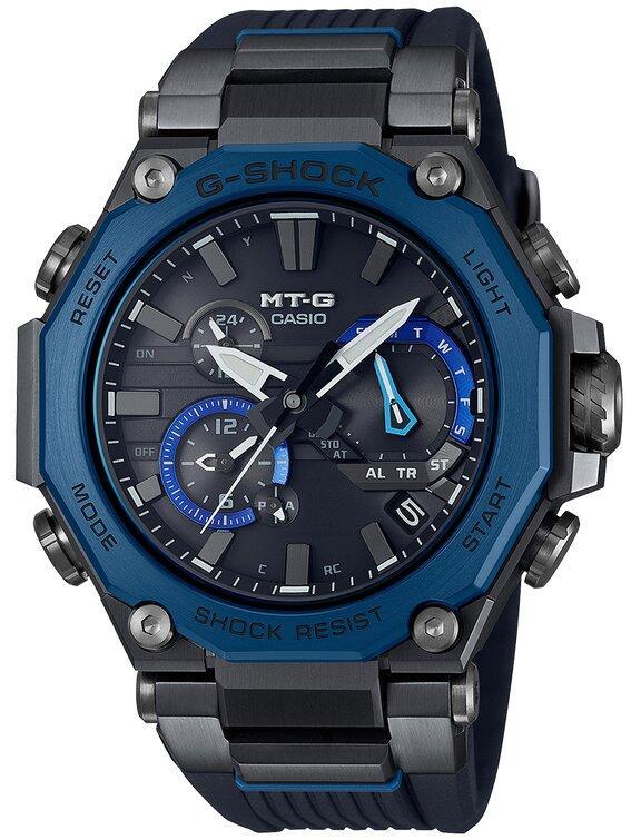 G-SHOCK G-SHOCK T-G Triple G Resist Ion Plated Bezel Men's Watch - Blue and Black - Gemorie