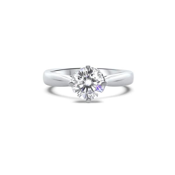 """GEMODA GEMODA """"Charming"""" 1ctw Moissanite Brilliant Round Solitaire Engagement Ring with Cathedral Setting - Gemorie"""